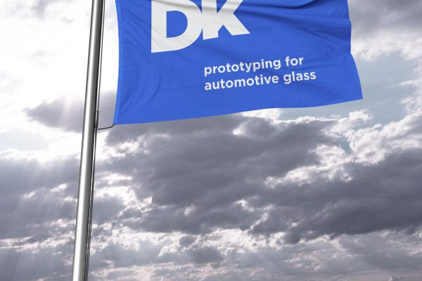 DK Automotive Glass Logo on Flag